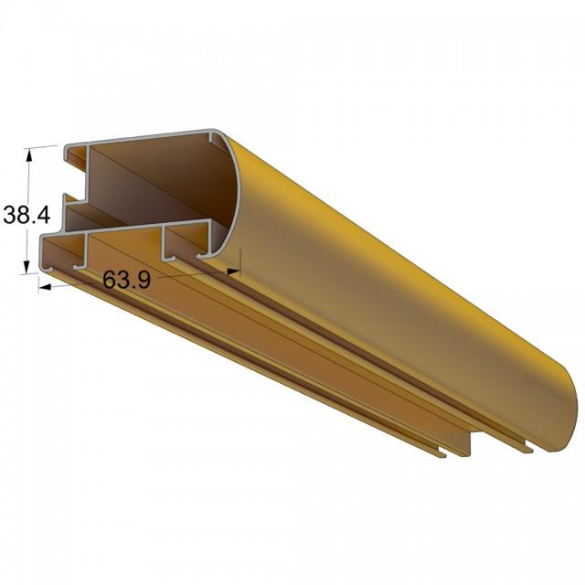 MAT GOLD DOUBLE PROCESSION RAIL